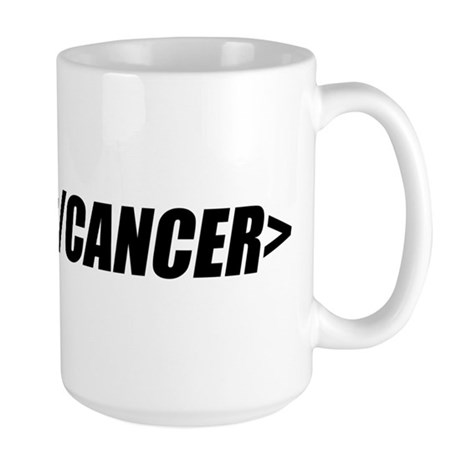 Geeky End Cancer Large Mug