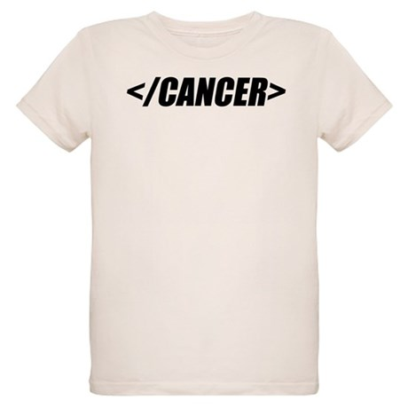 Geeky End Cancer Organic Kids T-Shirt