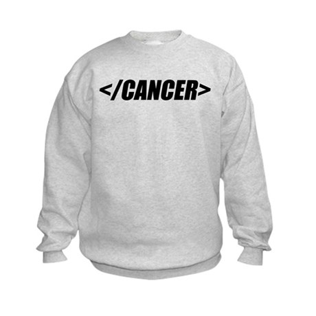 Geeky End Cancer Kids Sweatshirt