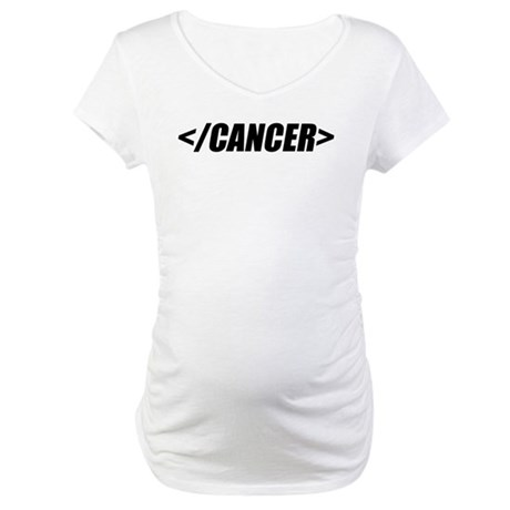 Geeky End Cancer Maternity T-Shirt