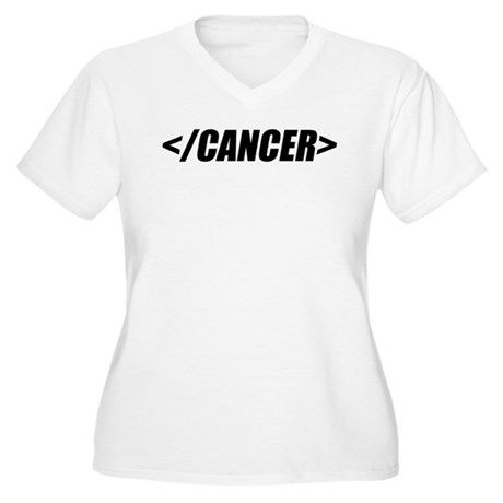 Geeky End Cancer Women's Plus Size V-Neck T-Shirt