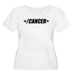 Geeky End Cancer Women's Plus Size Scoop Neck T-Sh