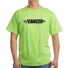 Geeky End Cancer Green T-Shirt