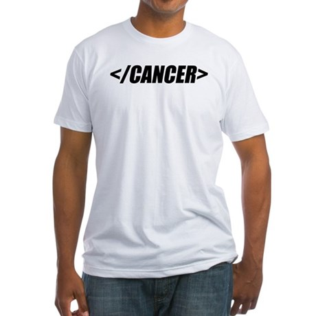 Geeky End Cancer Fitted T-Shirt