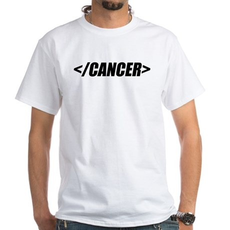 Geeky End Cancer White T-Shirt