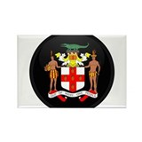 Coat of Arms of Jamaica Rectangle Magnet