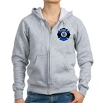 Fire Chief Gold Maltese Cross Women's Zip Hoodie