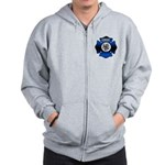 Fire Chief Gold Maltese Cross Zip Hoodie