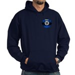 Fire Chief Gold Maltese Cross Hoodie (dark)