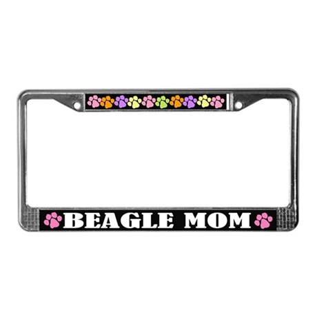 Cute Beagle Mom License Frame