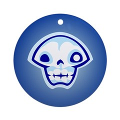 Blue Skull Ornament (Round)