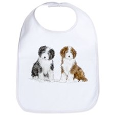 Funny Bearded collie Bib