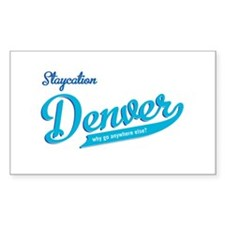Denver staycation Rectangle Sticker