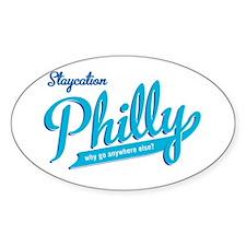 Philly Staycation Oval Sticker
