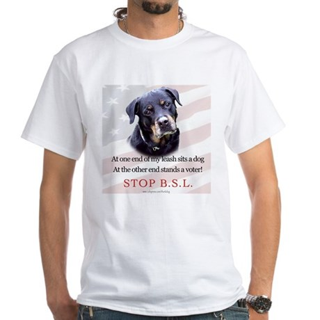 Rottie Political White T-Shirt