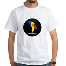 Flag Map of Moldova Shirt