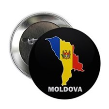 "Flag Map of Moldova 2.25"" Button"