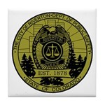 Riverton Police Tile Coaster