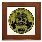 Riverton Police Framed Tile