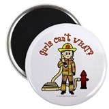 Blonde Firefighter Girl Magnet