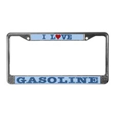 I Love Gasoline License Plate Frame