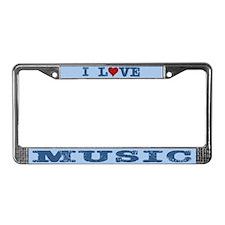 I Love Music License Plate Frame