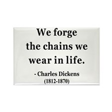 Charles Dickens 11 Rectangle Magnet (10 pack)