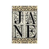 Jane Austen JANE Rectangle Magnet