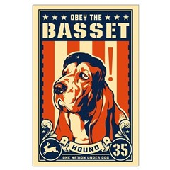 Obey the Basset Hound! Posters