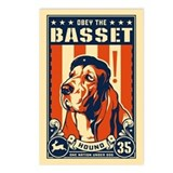 Obey the Basset Hound! USA Postcards (6)