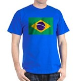 Brazil Flag Black T-Shirt