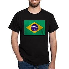 Brazil Flag Black T-Shirt
