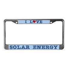 I Love Solar Energy License Plate Frame