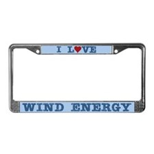 I Love Wind Energy License Plate Frame