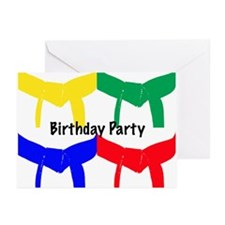 Martial Arts Birthday Party Invitation Cards 10PK