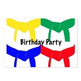 Martial Arts Birthday Party Invitation Postcards