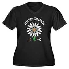 Bioengineer Illusion Women's Plus Size V-Neck Dark