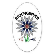 Bioengineer Illusion Oval Sticker (10 pk)