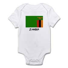 Zambia Flag Infant Bodysuit