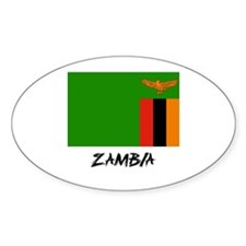 Zambia Flag Oval Decal