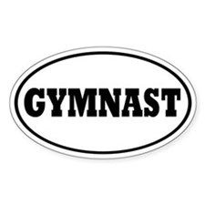 Gymnast Oval Decal