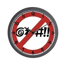 No Cursing Allowed, Virginia Beach, VA Wall Clock