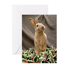 Standing Wreath Bunny Greeting Cards (Pk of 10