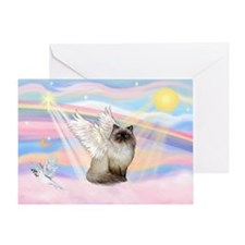 Clouds / Himalayan Cat Greeting Card