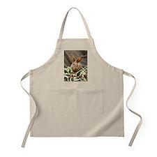 Sitting Wreath Bunny BBQ Apron