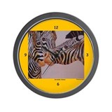 Decidedly Jealous Zebras Clocks Wall Clock