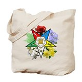 Eastern Star Floral Tote Bag