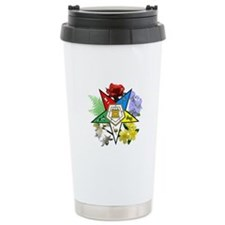 Eastern Star Floral Emblems Ceramic Travel Mug