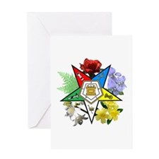 Eastern Star Floral Emblems Greeting Card