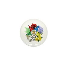 Eastern Star Floral Mini Button (100 pack)